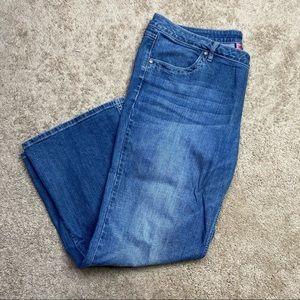 Harley Davidson Pink Label Embellished Flare Jeans